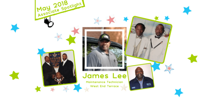 James Lee at West End Terrace is the subject of the Mills Properties Associate Spotlight for May 2018.
